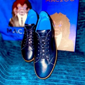 Maceoo Paris- Navy leather casual shoe
